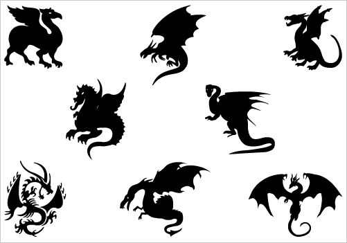 Dragon Silhouette Chinese Dragon Clipart Dragon Tattoo Clipart Best Clipart Best Dragon Silhouette Silhouette Vector Silhouette Clip Art