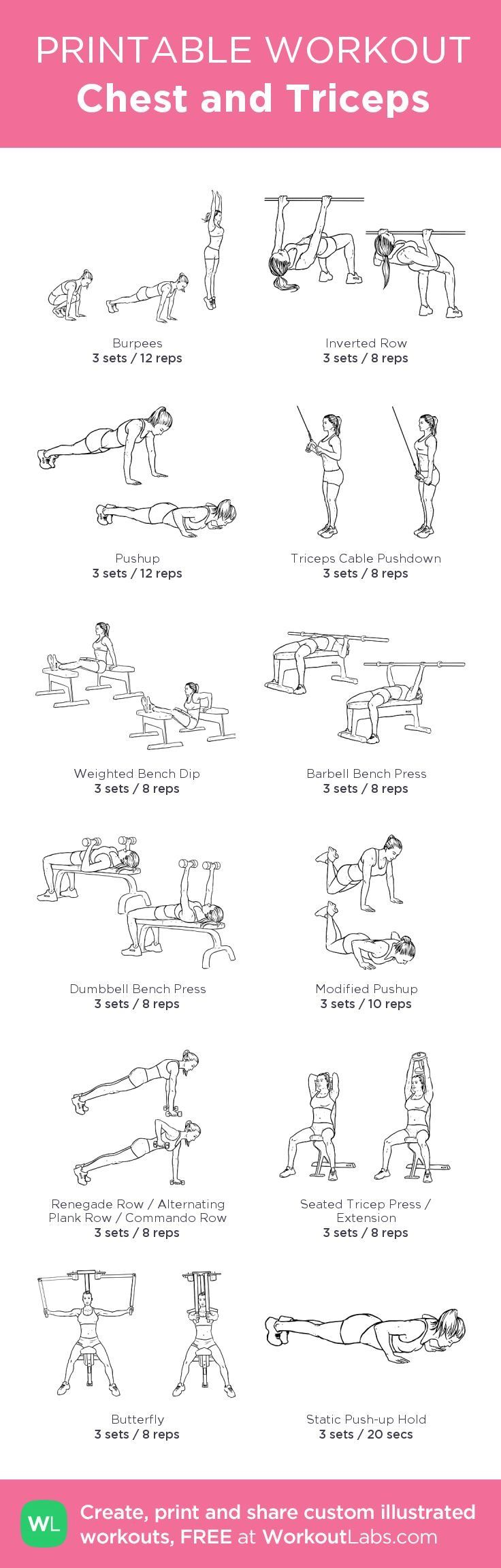 Chest And Tris Workout Posted By Customweightlossprogram Com