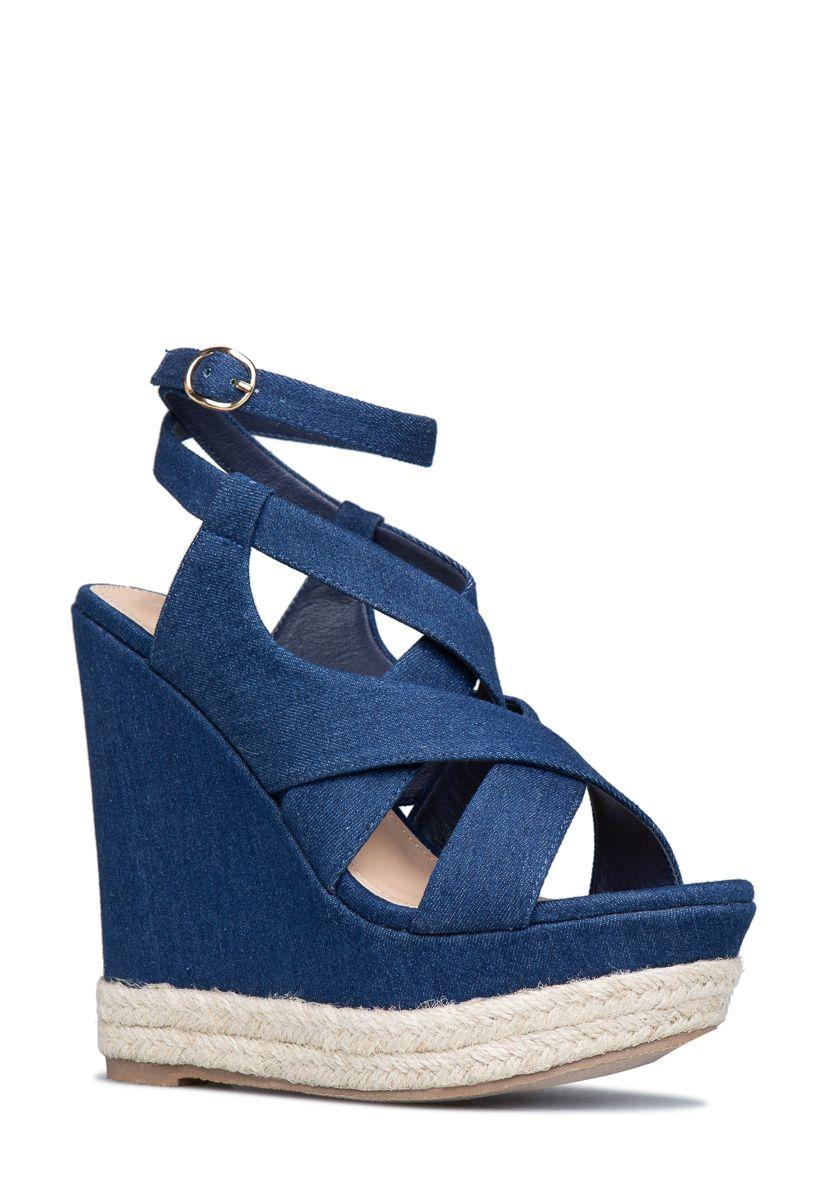 Carmella Strappy Espadrille Wedge - Shoedazzle  Womens -9854