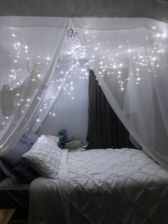 35 Fantastische Led Lichterketten Dekor Mädchen Schlafzimmer #girlsbedroom