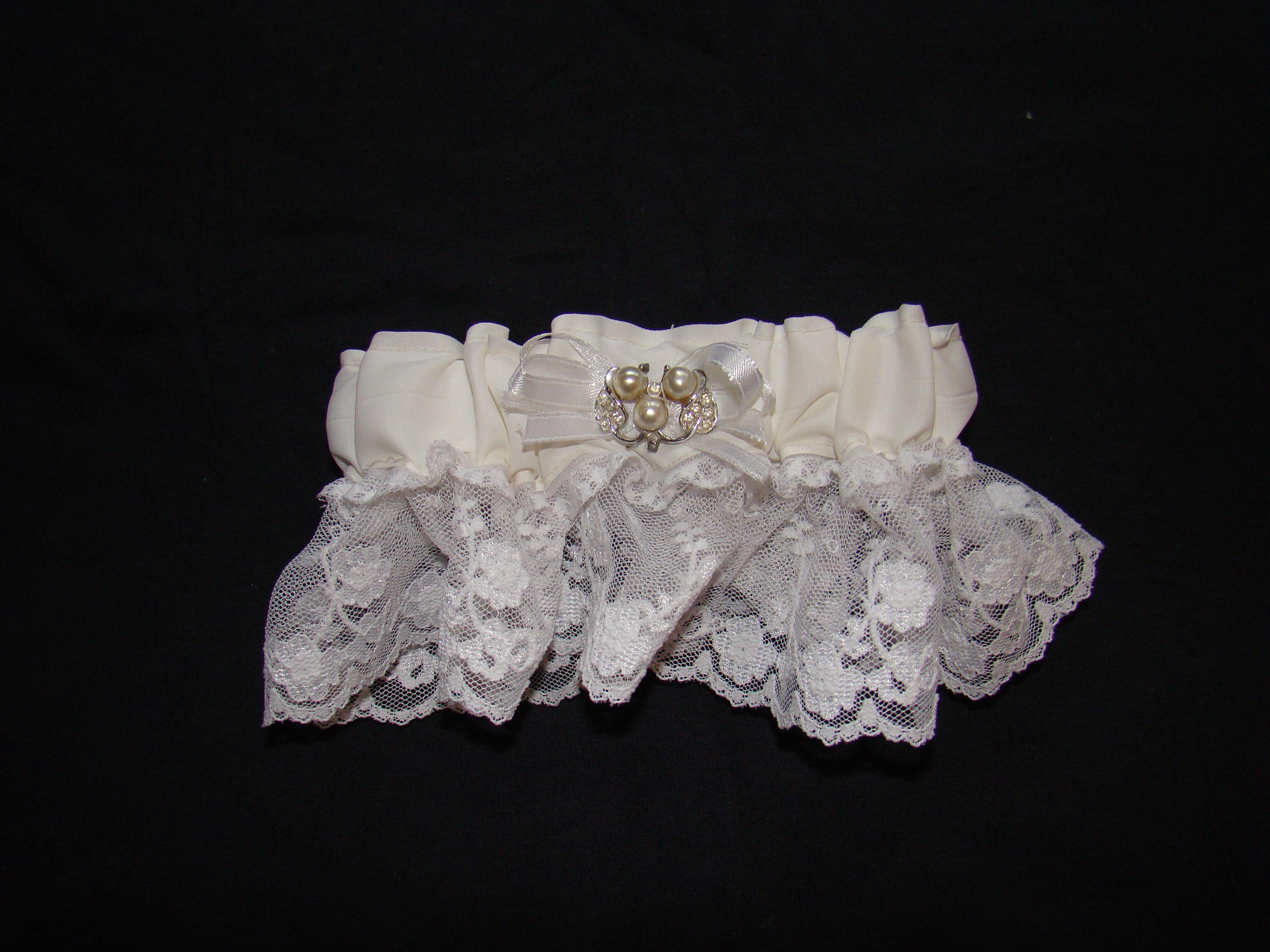 Garter Made From Mom's Wedding Dress