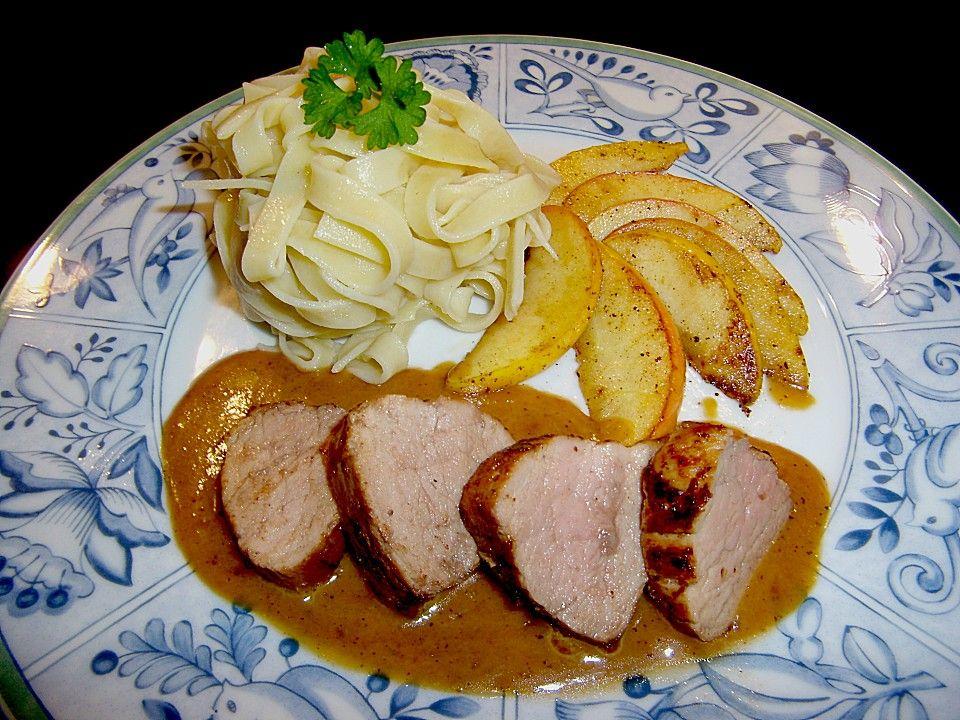 Sommergerichte Mit Schweinefleisch : Schweinefilet mit Äpfeln in calvados sauce in 2018