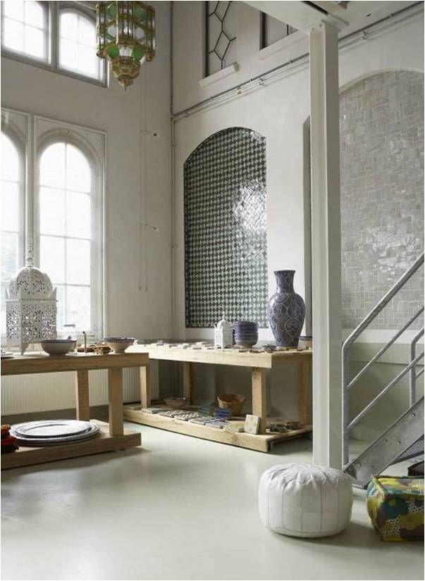 Monochrome Moroccan Style Interior