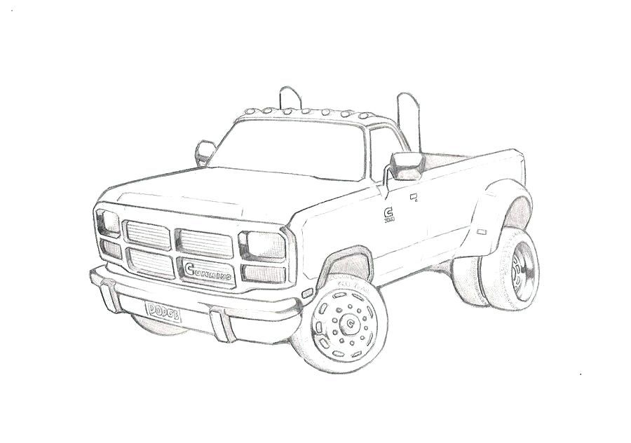 Dodge Truck Coloring Pages Dodge Ram Coloring Pages Free Dodge
