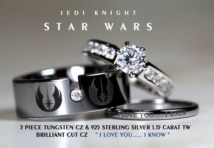 Nerdy Wedding Rings.For Nerds Jewelry In 2019 Star Wars Wedding Star Wars Ring