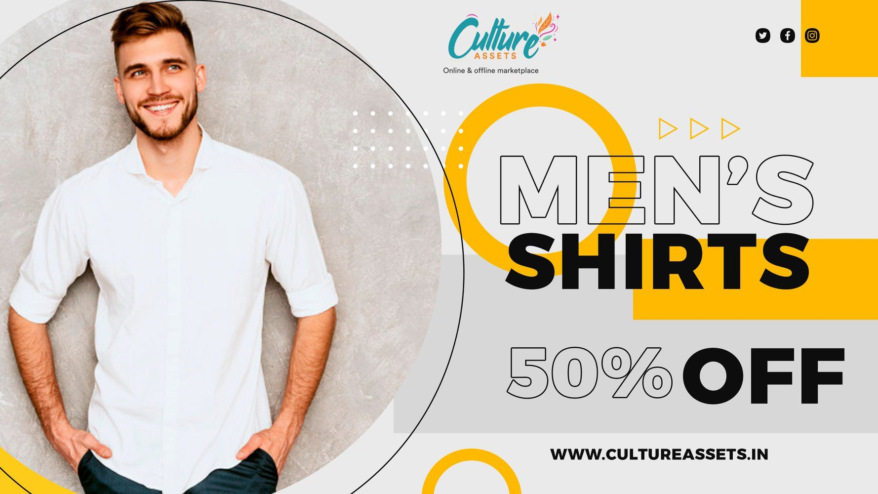50% DISCOUNT...!!!! Buy casual shirts for men online. Wide range of printed shirts, striped shirts, plain shirts, tropical shirts with long and half sleeve are available at Culture Assets. STAY TUNED.!!!! . . . . #mensshirt #mensfashion #menswear #shirt #mensshirts #fashion #mensstyle #shirts #menstyle #tshirt #onlineshopping #mensshirtstyle #mensclothing #mensweardaily #instafashion #fashionista #ethnicwear #partywear #style #mens #men #jeans #fabric #shirtstyle #menstshirt #indianfashion #inst