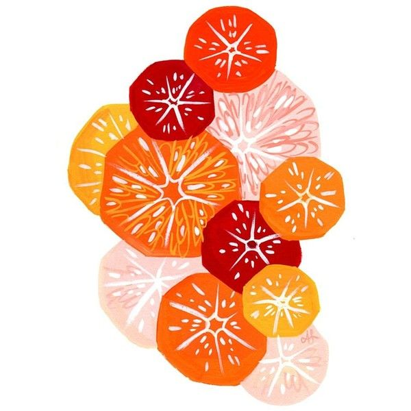 Simple Citrus Salad ❤ liked on Polyvore featuring detail and embellishment