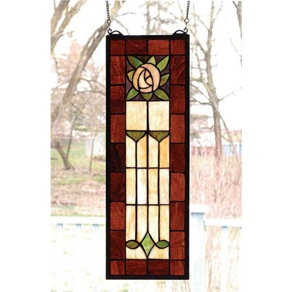 Art Deco Rose Window Hanging 170 Liked On Polyvore Featuring Home