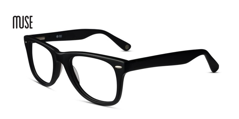 3a8bd8b78c57 Square glasses frames in black Muse M Classic Prescription Eyeglasses