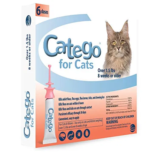 Catego Flea and Tick Control for Cats Cat fleas, Tick