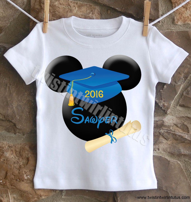 DISNEY MICKEY MOUSE :::::::::::GRADUATION CLASS OF 2018 T ... |Graduation Mickey Mouse Shirts