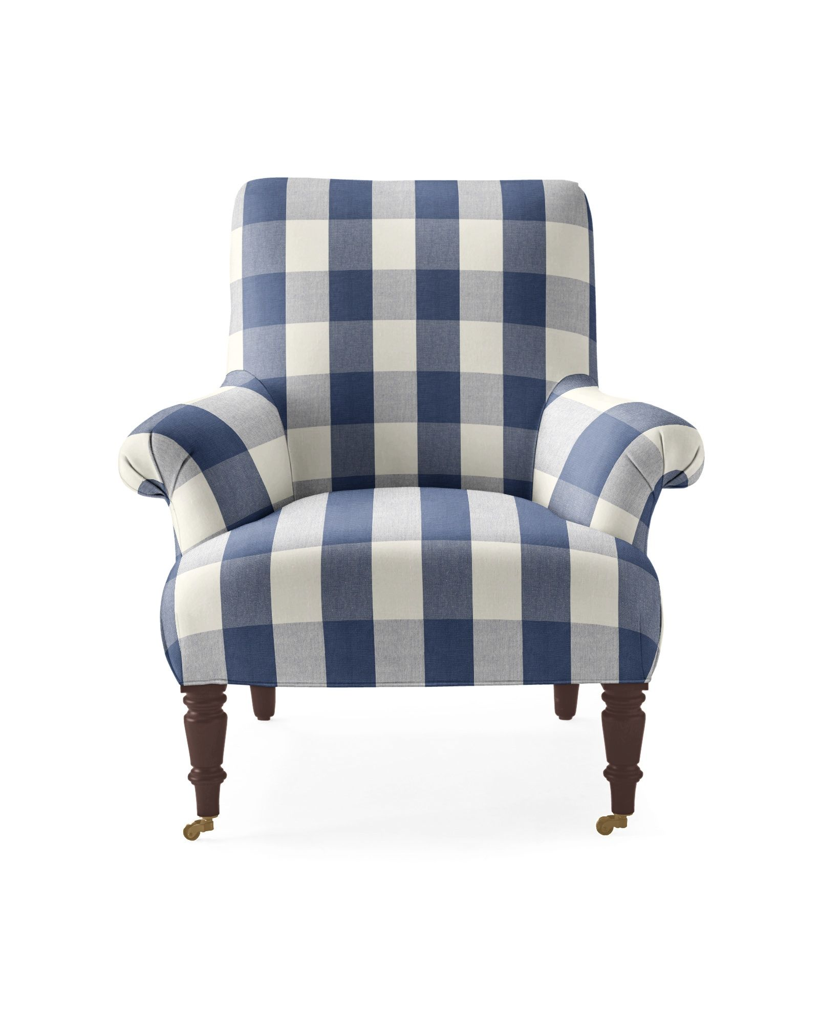 Buffalo Check Chair Navy And White