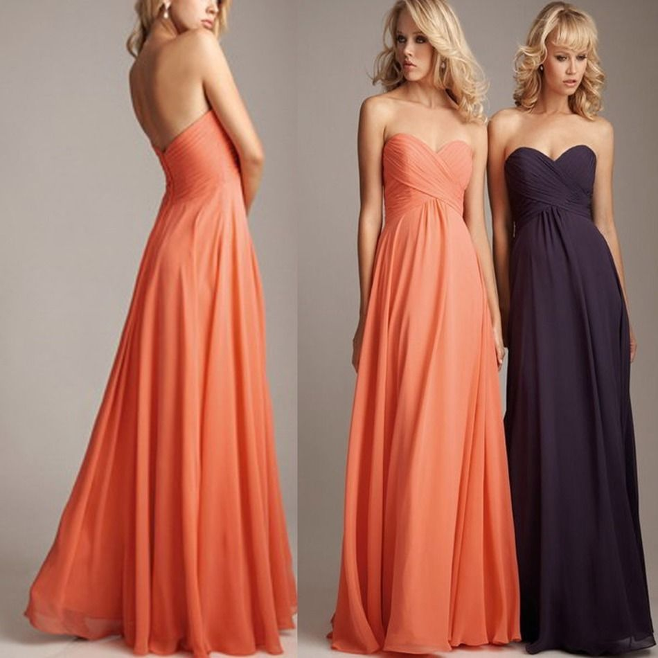 Free shipping buy best bridesmaid dress plus size coral colored free shipping buy best bridesmaid dress plus size coral colored chiffon ombrellifo Images