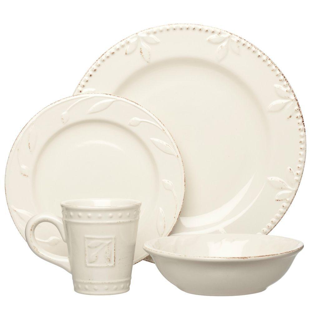 Sorrento Ivory 48 Piece Dinnerware Set by Signature Houseware 12 Place Settings #SignatureHousewares  sc 1 st  Pinterest & Sorrento Ivory 48 Piece Dinnerware Set by Signature Houseware 12 ...