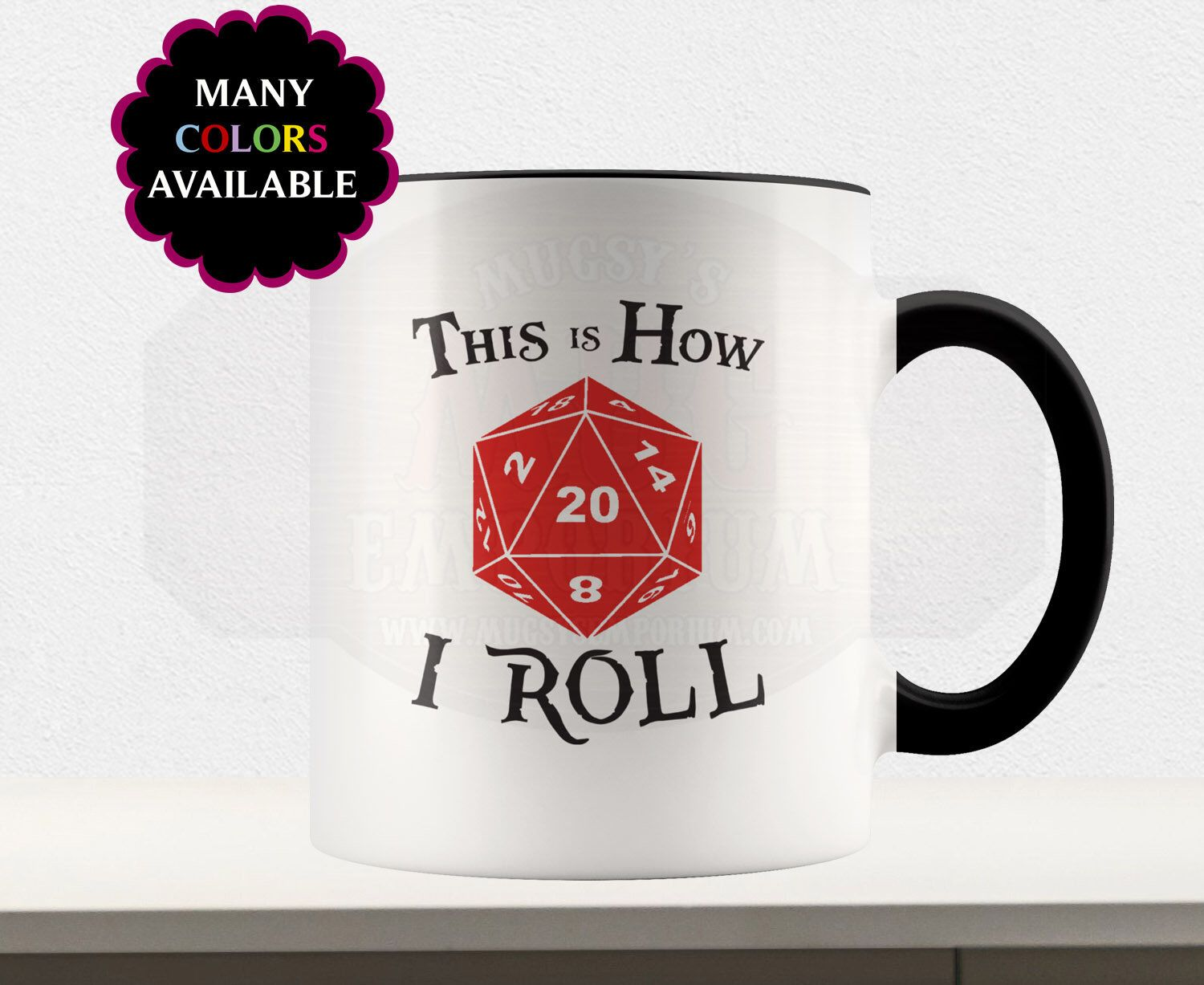 This is How I Roll D&D Custom Mug, DnD, RPG, Dungeons and Dragons, Gaming Mug, D20, Tea cup, Coffee mug, Dice Bag, Gamer Gift, Geek Mug #custommugs