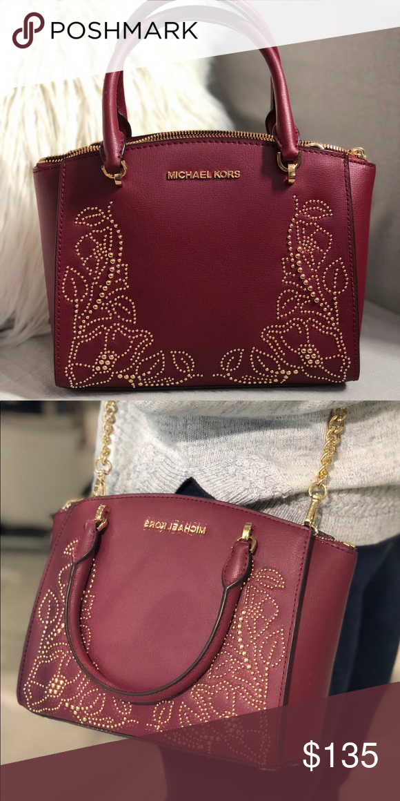 7bf1697af8fe MICHAEL KORS ELLIS SMALL SATCHEL Gorgeous bag from Michael Kors! Comes with  extra strap for crossbody wear. Color: Mulberry Michael Kors Bags Satchels