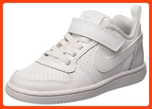 Nike Jungen Court Borough Low (Psv) Sneaker, Weiß (White