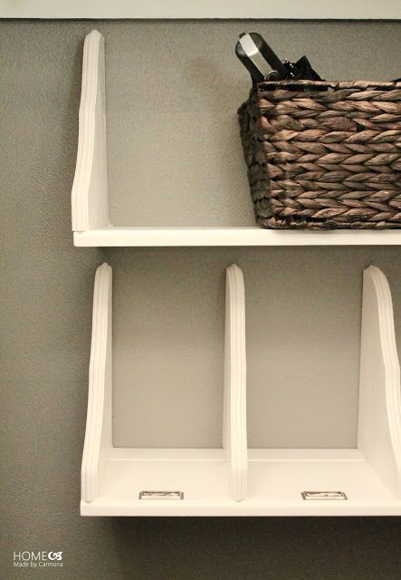 DIY Flipped Shelves | Home Made by Carmona