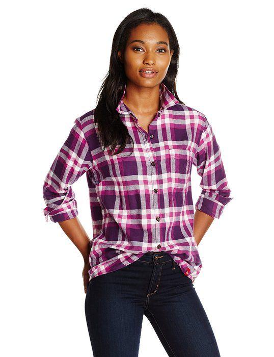 833c0191d63 Dickies Women s Long Sleeve Plaid Flannel Shirt