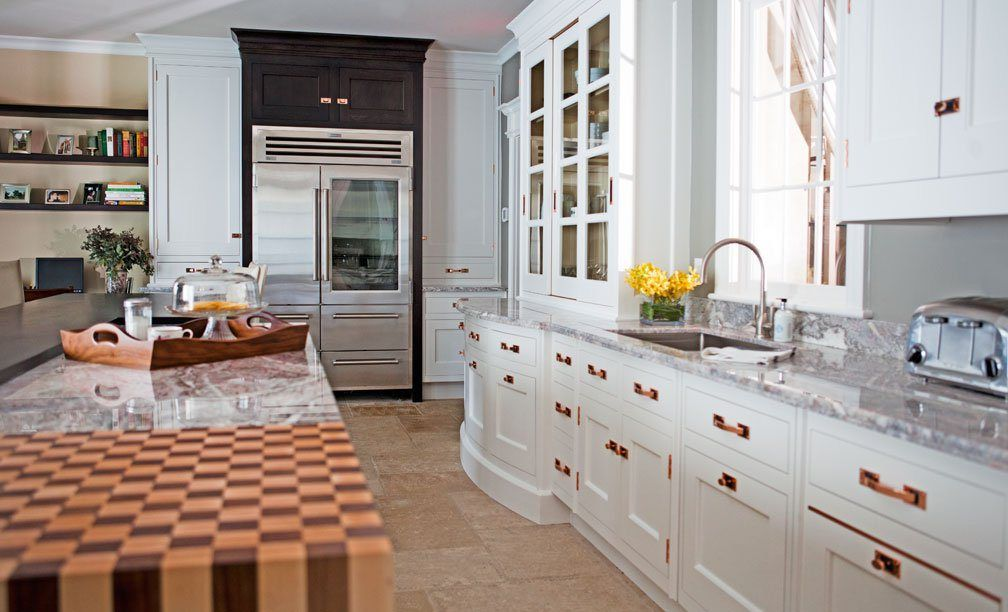 White Kitchen Copper Cabinet Handles Pulls Cococozy