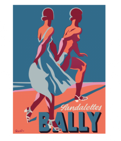 Bally Sandalettes Vintage Poster Hardtofind Vintage Advertising Posters Vintage Advertisement Vintage Posters