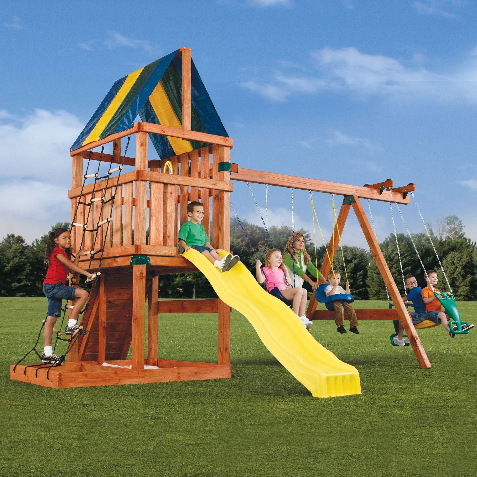 sun what sets swing backyard sweet at set wooden or playsets discovery cheerful swingset shop wood intriguing outdoor ga paradise palace gorilla on kids famed playset is