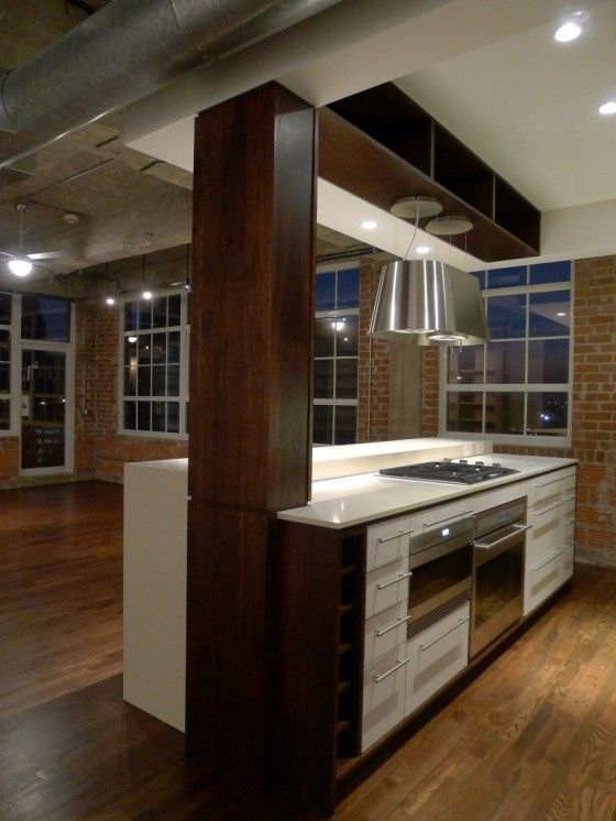 Loft À Houston Par Content Architecture - Cuisine Avec Ilot