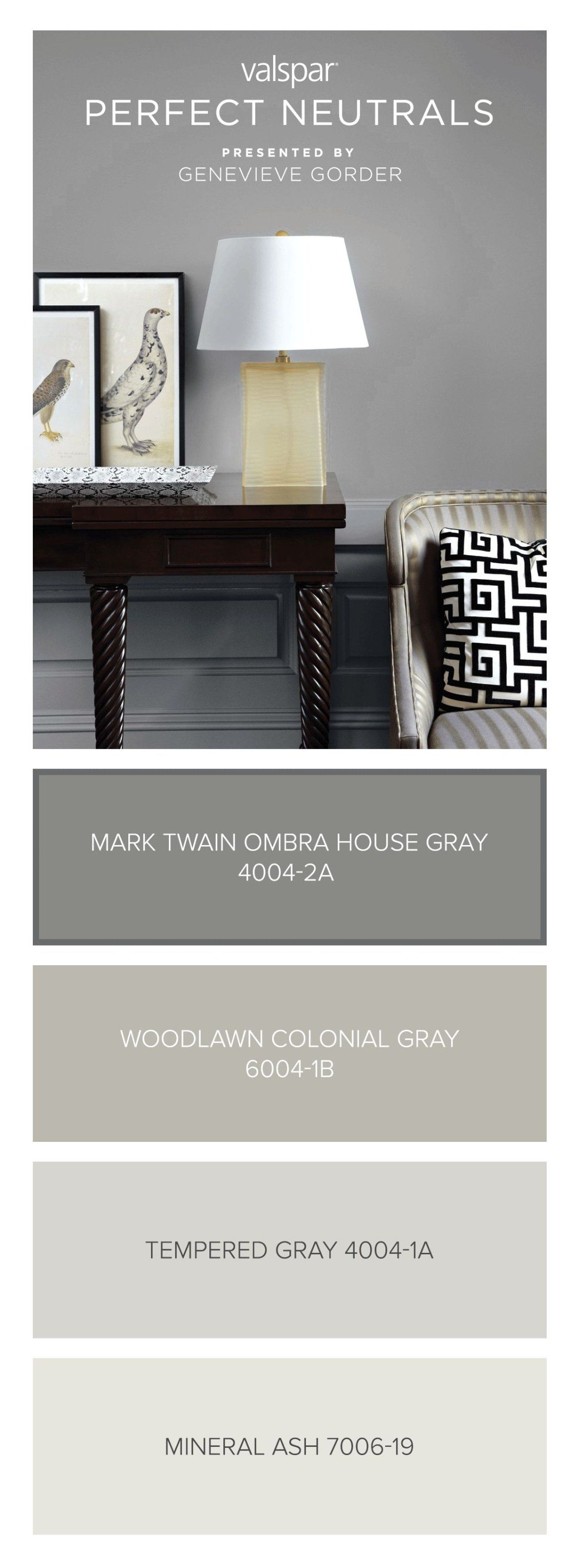 Here S A Tip From Genevieve Gorder Mark Twain House Ombra Gray 4004 2a Is Dark Enough To Be Paint Colors For Living Room Living Room Colors Living Room Paint