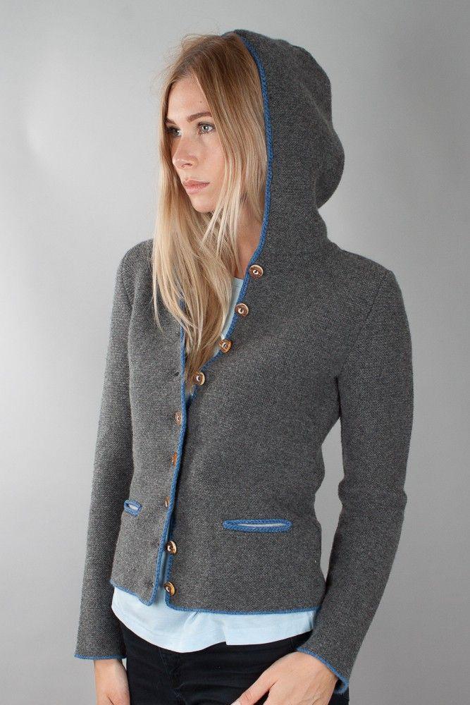 Beliebt Bevorzugt Almliebe by Astrifa Damen Strickjanker Jagerberg 13026 grau/blau #RB_14