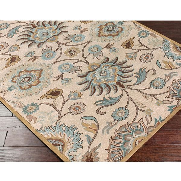 Hand Tufted Alameda Traditional Fl Wool Area Rug 5 X 7 9 Ping The Best Deals On 5x8 6x9 Rugs