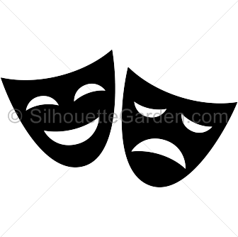 Drama mask silhouette clip art. Download free versions of the ...