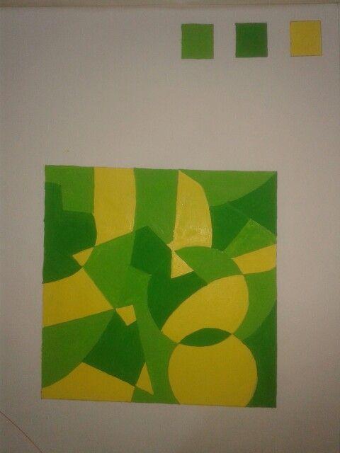 Abstract Design For Analogous Colour Scheme Art Classroom