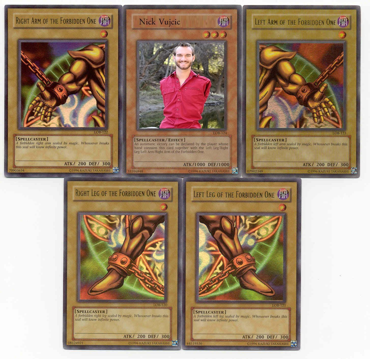 Exodia The Forbidden One Yugioh Memes Anime Cards