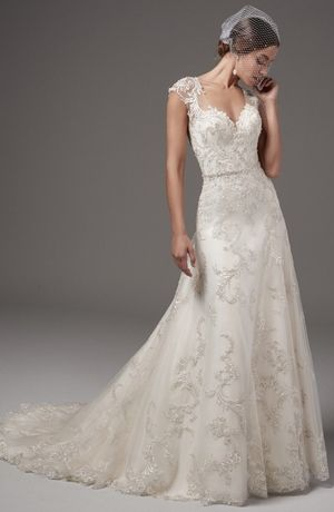 Maggie Sottero Sweetheart A Line Wedding Dress With Natural Waist Bridal Gown Style Number