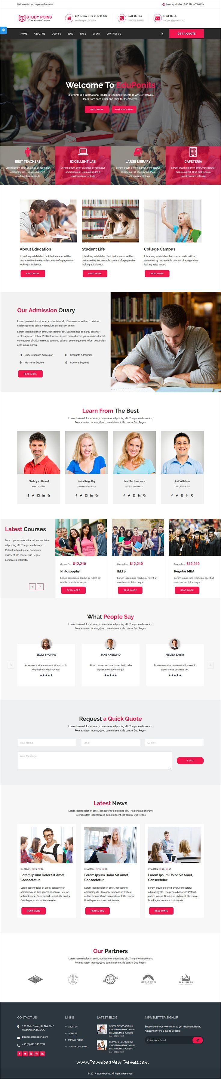 Study Points Is Clean And Modern Design 4in1 Bootstrap Html
