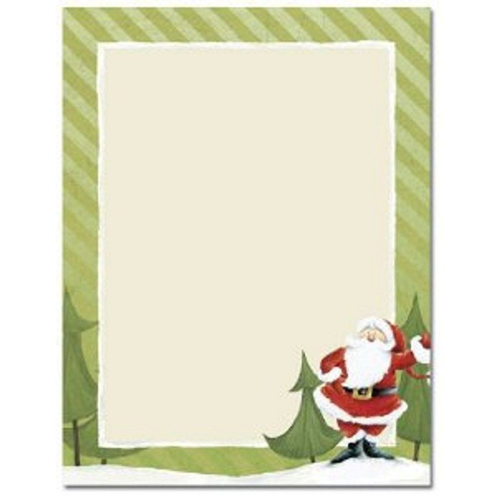 jolly santa claus christmas letterhead sheets christmas stationery
