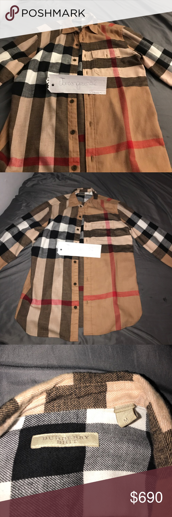 Burberry Brit Button-Down 100% Authentic ! If Need Proof Text Me @7083741216 . Burberry Shirts Casual Button Down Shirts