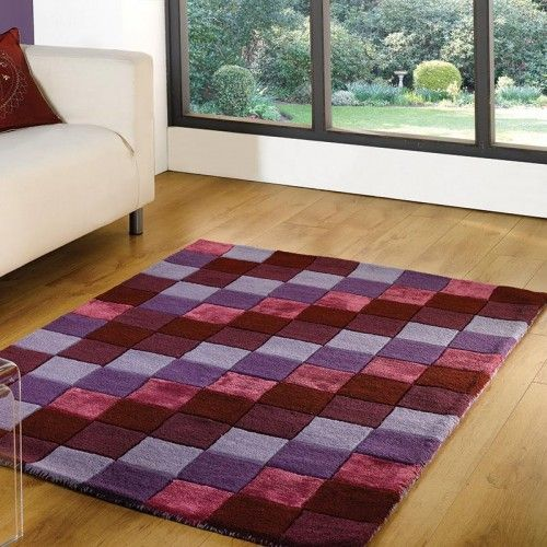 Stunning Check Purple Rug Delivered Next Day Order Here Land Of Rugs From