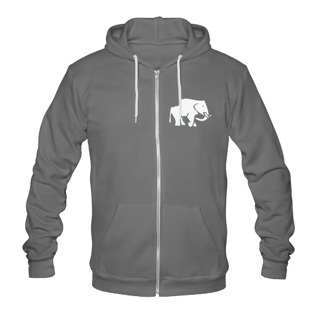 How to eat an elephant? Zip Hoodie