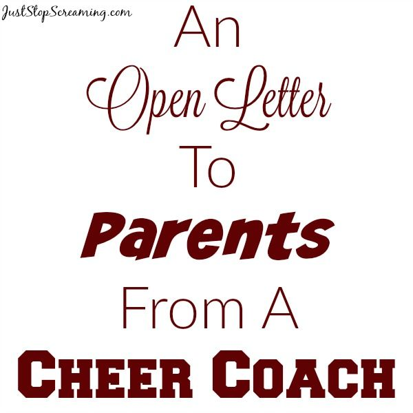 An Open Letter From A Volunteer Cheer Coach  Cheer Coaches Open