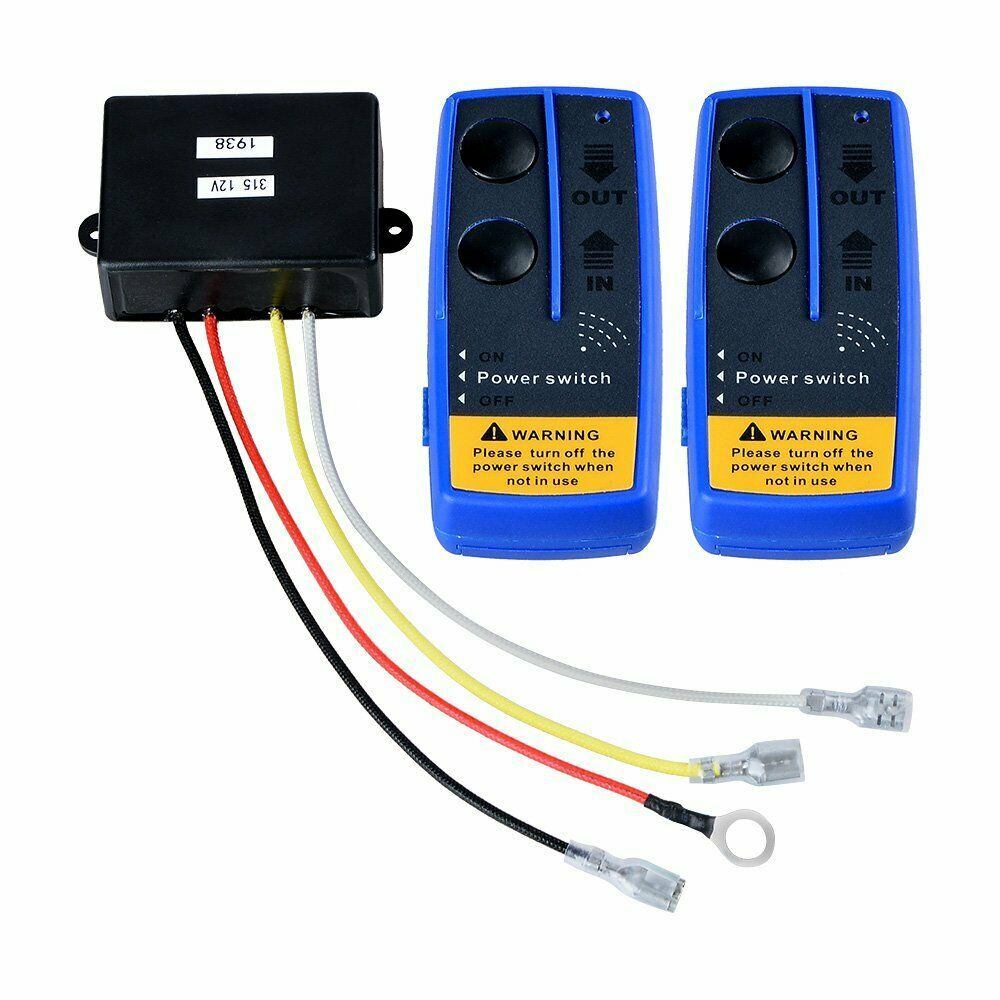 ebay sponsored twin 150ft winch wireless remote control switch handset electric 12v kit atv utv [ 1000 x 1000 Pixel ]