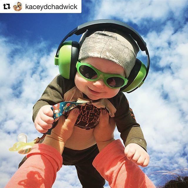 9ddcf2990f Aww look at that cute baby rocking the  earbanz  babybanz  banzusa   adventurebanz