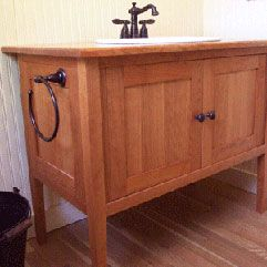 Shaker Styled Cherry Bathroom Vanity  Home Ideas  Pinterest Alluring Cherry Bathroom Vanity Inspiration Design