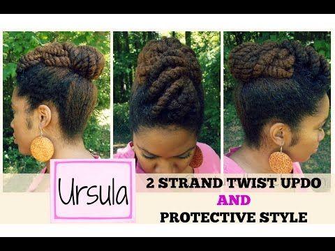 Naturally Michy | U: Ursula | Protective Updo on Natural Hair - YouTube