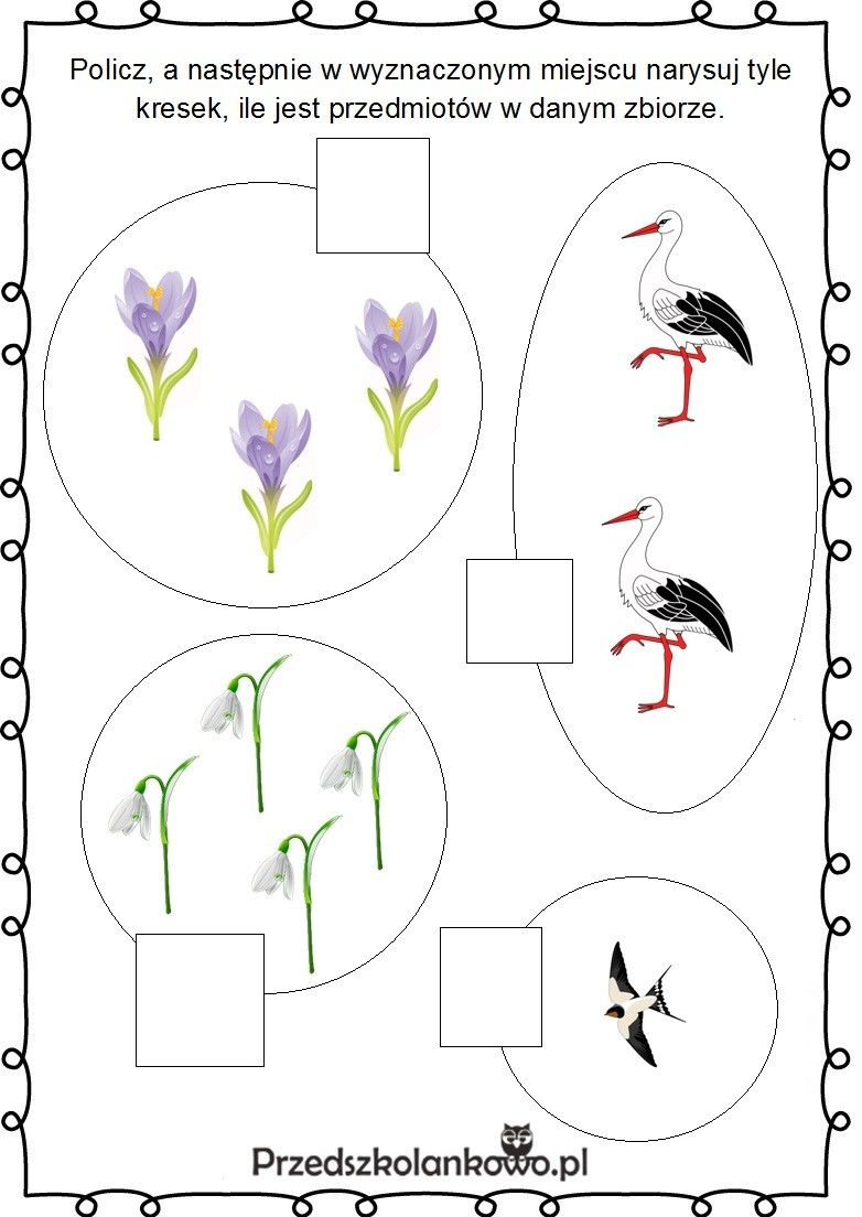 Pin By Lucyna Golenia On Wiosna Preschool Math Worksheets Preschool Math Coloring Pages