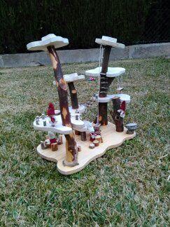 Wooden Tree House. Juguete natural Waldorf - Montessori: Bosque waldorf o bosque mágico.