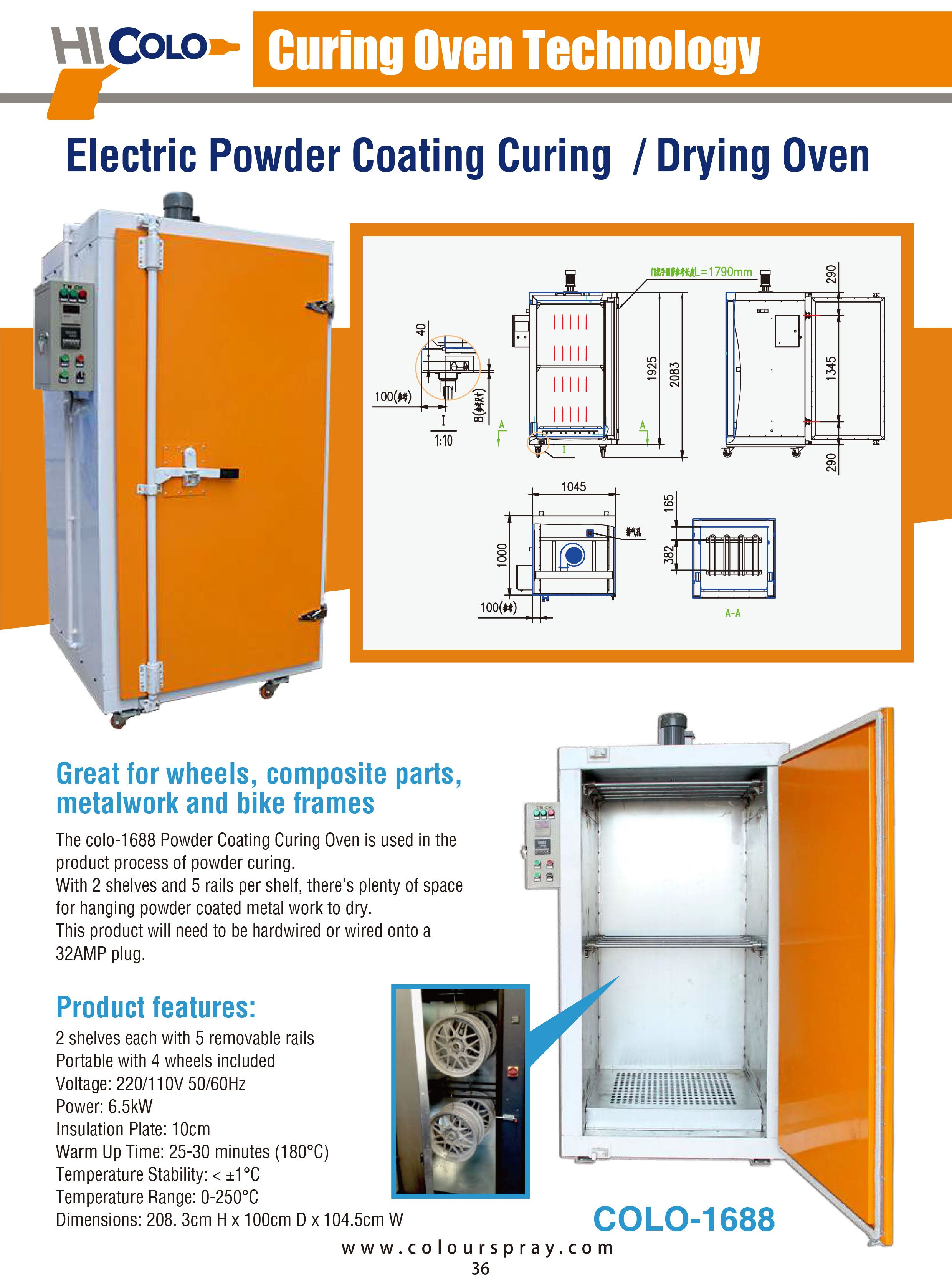 Batch Oven Paint Curing Oven Electric Powder Coating Oven