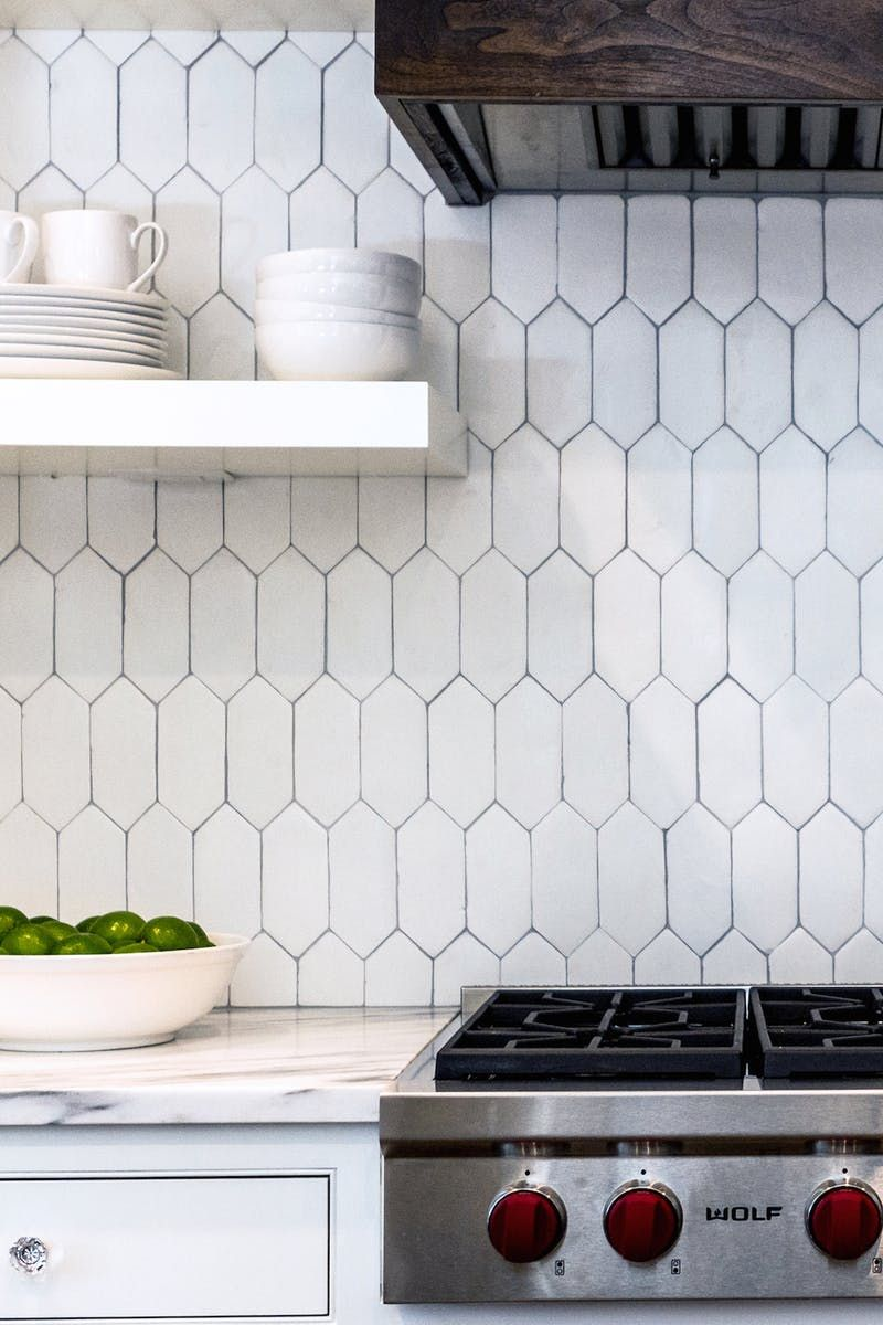 Looking past the predictable horizontal white subway tile on the ...