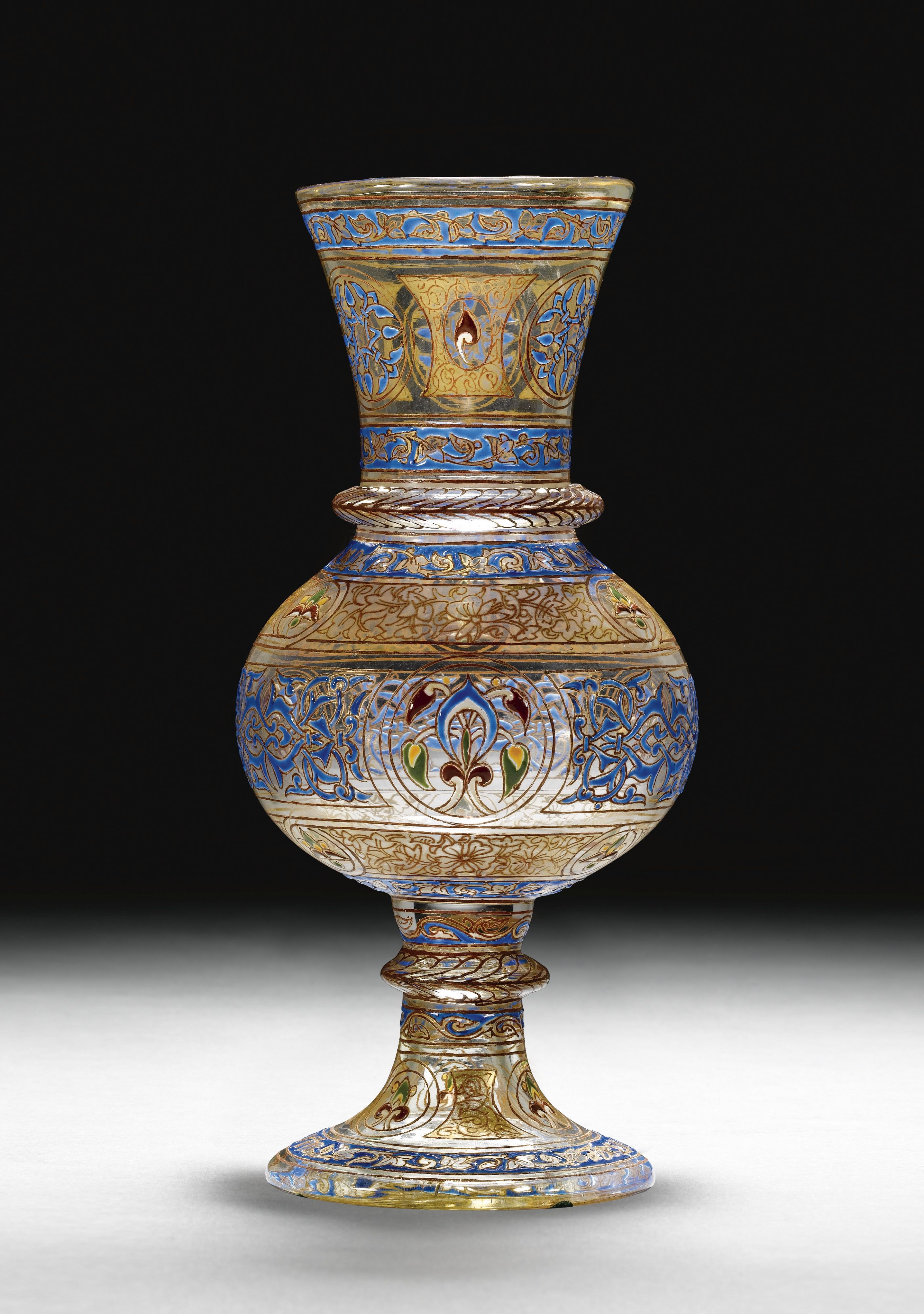 A Brocard gilded and enamelled Mamluk revival vase, signed and dated Paris 1886 | Lot | Sotheby's
