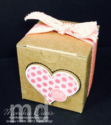 Using the Tiny Treat boxes and Groovy Love stamp set.